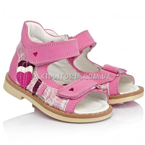 Босоножки нежно-розового цвета для первых шагов (Арт.15-87)