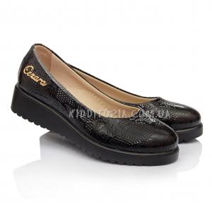 Туфли школьные для девочки на платформе (Арт.048-1)