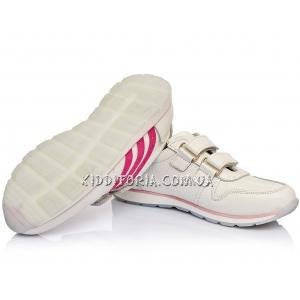 Кроссовки белые кожаные  (Арт.02710)