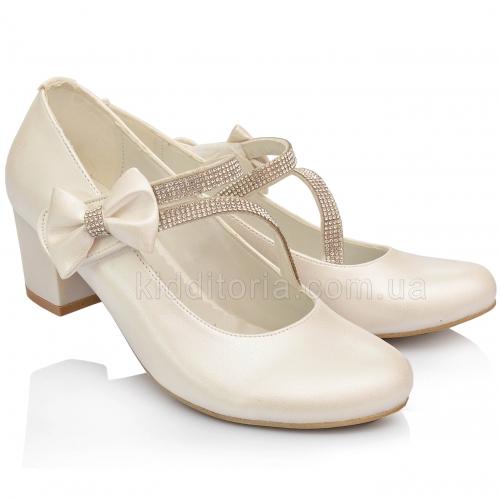 Нарядные  туфли на девочку (Артикул 02-127)