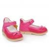 Туфли ярко-розового цвета на липучке (Арт.021)