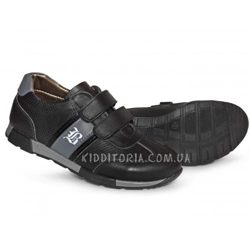 Кроссовки школьные черные (Арт.12-02)