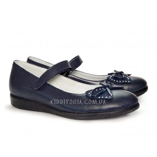 Туфли школьные темно-синего цвета (Арт.18-01)
