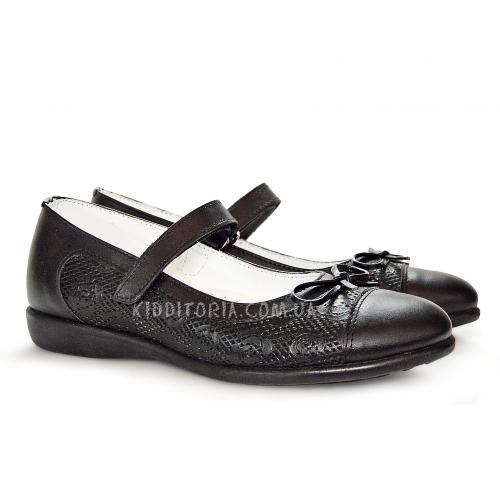 Школьные туфельки c элегантным бантиком (Арт.18-04)