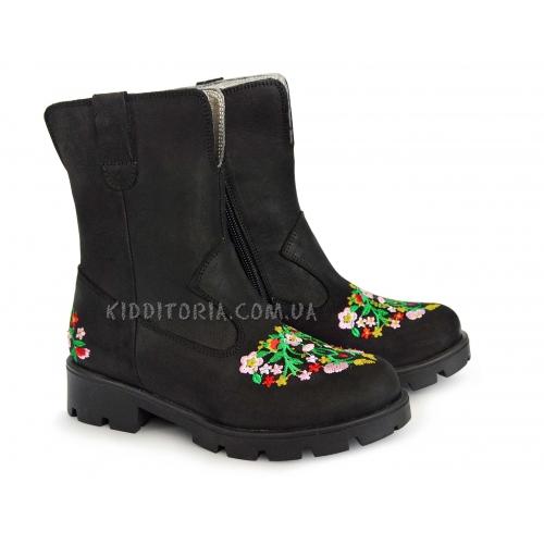 Ботинки Woopy зимние с вышивкой (Арт.01843)