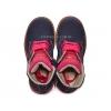 Ботинки с ярко-розовой отделкой на шнурках и молнии