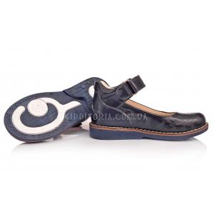 Туфли школьные, с тиснением (Артикул 1876)