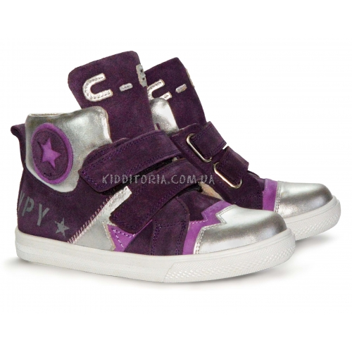 Ботинки серебристо-фиолетовые (Арт.2095-1)