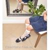 Туфли из синей матовой кожи