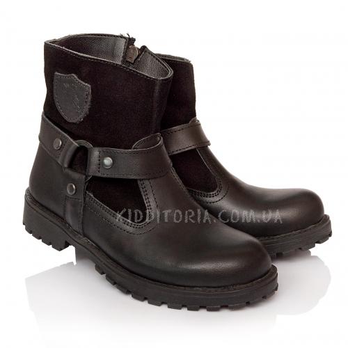 Ботинки кожаные на молнии (Арт.2241)