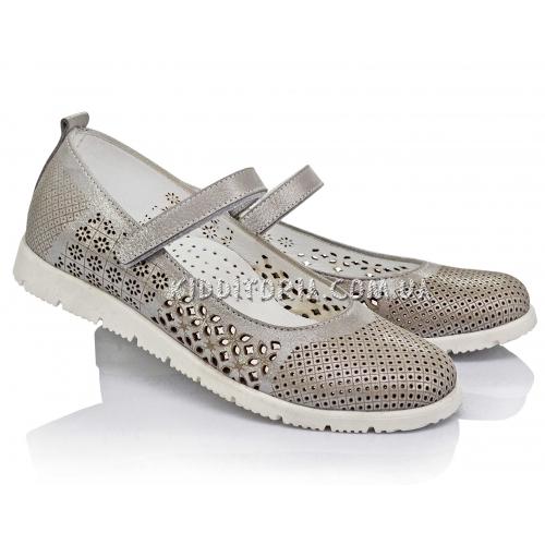 Туфли серебристые (Арт.2842-02)