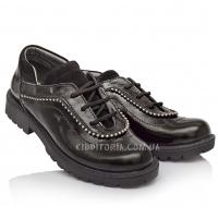 Туфли для девочки,  шнуровка+молния  (Артикул 2905)