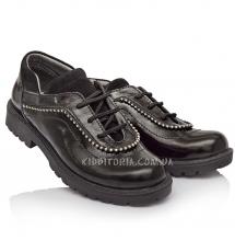 Туфли для девочки,  шнуровка + молния  (Артикул 2905)