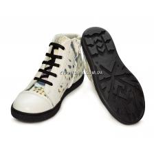 """Ботинки-кеды с анималистическим принтом """"Тигр"""" на шнурках и молнии (Арт."""