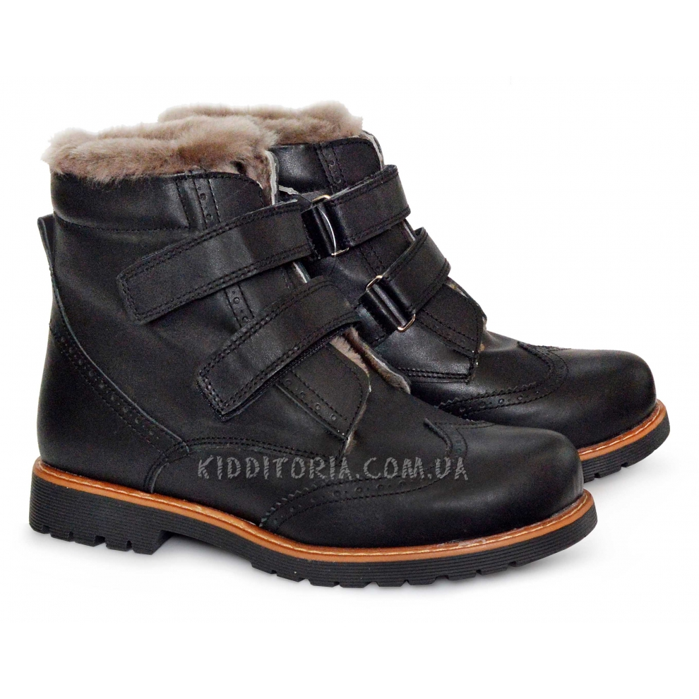 Ботинки зимние Woopy на двух липучках (Арт.0584-1)