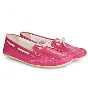 Мокасины кожаные розового цвета (Арт.76-23)