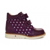 Ботинки темно-фиолетовые с цветочным рисунком  (Арт.919-2)