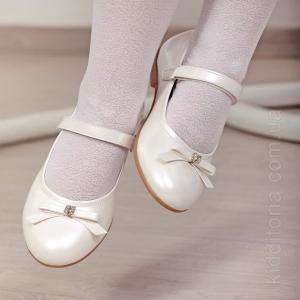 Праздничные туфли в жемчужном цвете (Артикул 02-92)