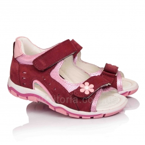 Розово-бордовые босоножки для девочки (Артикул 11-311)