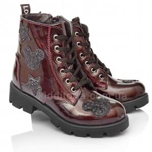 Демисезонные лаковые ботинки для девочек (Артикул 5064-01)