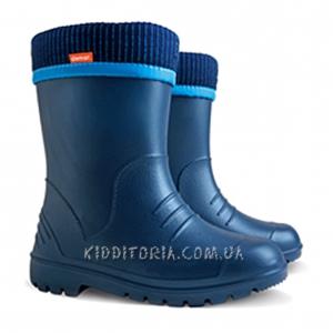 Суперлёгкие сапоги синего цвета (Артикул 195-01)