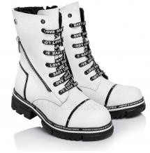 Зимові чобітки білого кольору для дівчаток (Артикул 3725-01)