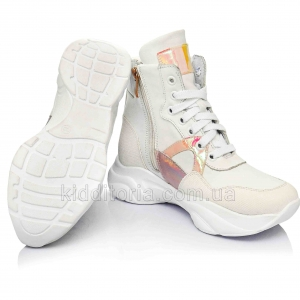 Модные утепленные кроссовки для девочек (Артикул 96-340)