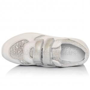 Белые кожаные кроссовки (Артикул 07-169)