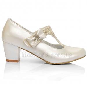 Красивые туфли на каблуке для девочек (Артикул 02-154)
