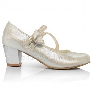 Нарядные серебристые туфли (Артикул 02-150)