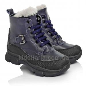 Зимові дитячі черевики на шнурках і блискавці (Артикул 3706-03)