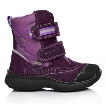 Зимние мембранные ботинки для девочки (Артикул 02-028)