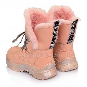 Детские зимние ботинки для девочек (Артикул 81-120)