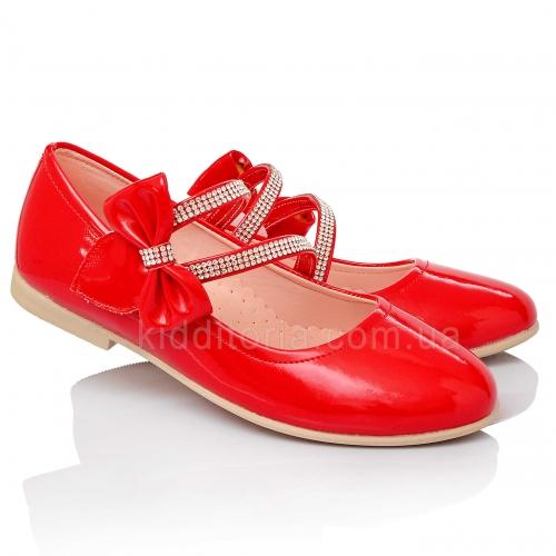 Красные туфли для девочки (Артикул 02-89)