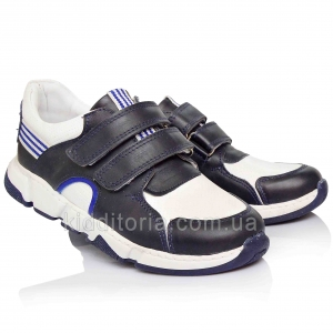 Кроссовки бело-синие для мальчиков (Артикул 10-579)