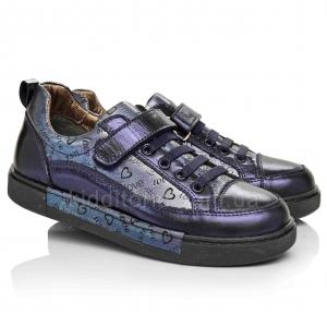 Удобные кроссовки синего цвета для девочек (Артикул 17-112)