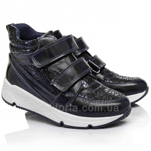 Спортивные полуботинки темно-синего цвета (Артикул 629-017)