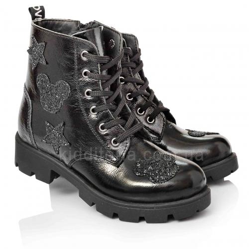Утепленные ботинки из натуральной лаковой кожи (Артикул 5064-02)
