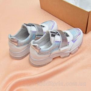 Кожаные белые кроссовки (Артикул 07-210)