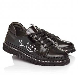 Модные туфли кожаные для девочек (Артикул 17-115)