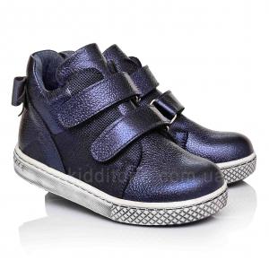 Демисезонные ботинки на двух липучках с бантиком (Артикул 461-01)