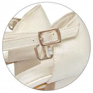 Нарядные  туфельки на небольшом каблучке (Артикул 02-125)