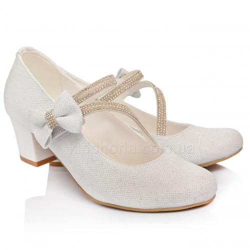 Нарядные  туфли на девочку (Артикул 02-145)