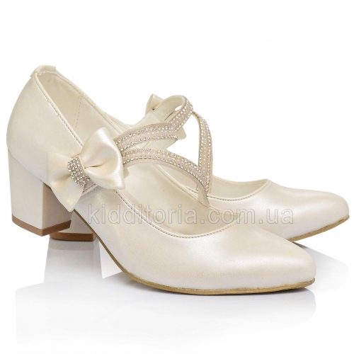 Туфли на каблуке для девочки (Артикул 02-151)