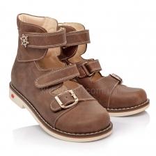 Туфли ортопедические серо-бежевого цвета (Арт.1144-12)