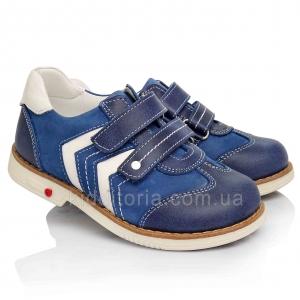 Туфли синего цвета с белыми вставками (Артикул 3485)