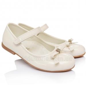 Праздничные туфельки белого цвета (Артикул 02-93)