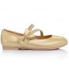 Нарядные золотистые туфельки для девочек (Артикул 02-74)