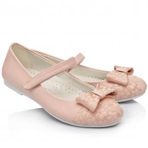 Туфли для девочек пудрово-розового цвета (Артикул 02-22)