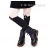 Ботинки зимние лакированные (Арт.144-2) на шнурках и молнии